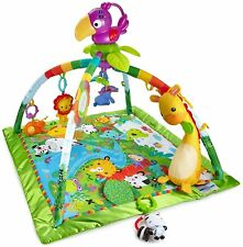 Fisher- Kick and Play Piano Gym Toy Unisex Baby Music Playmat Bmh49