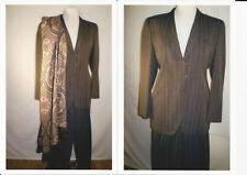 Giorgio Armani Women's Vintage Grey Pinstripe Suit SZ 10