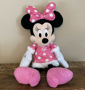 "Disney Minnie Mouse 22"" Plush Stuffed Animal Holiday 2017 Toys R Us Exclusive"