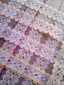 Eyelet/Knitting in Lace - IN 12 COLOURS - 2 metres