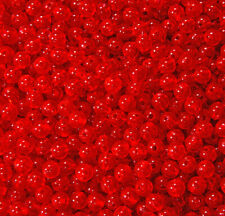 Fire Red 6mm Round Beads 500pc USA for crafts fishing lures jewelry