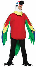 Parrot Bird Mascot Animal Adult Costume Red Tunic With Multi Colored Wings