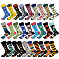 New 2019 Spring Funny Football Basketball Printed Men Socks Colorful Happy Socks