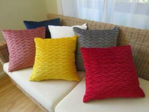 Home Mix & Match Softest Velvet Ruched  Home Decor Pillow Case Cushion Cover 45