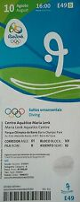 TICKET 10.8.2016 Olympia Rio Olympic Diving Turmspringen # E49
