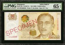 SINGAPORE 10,000 Dollars, ND (1999) P-44s. Specimen. PMG Gem Uncirculated 65 EPQ
