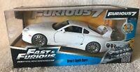 "Brian's Toyota Supra White ""Fast & Furious"" Movie 1/24 Diecast Car Model by Jada"