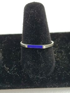 Sterling Silver Lapis Ring