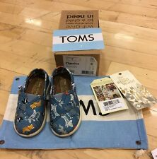 TOMS Shoe Disney Its A Small World Sz 6 Toddler New Animals
