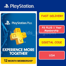 Sony PlayStation PSN PS Plus 12-Month / 1 Year Membership Subscription code