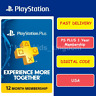 Sony PlayStation PS Plus 12-Month / 1 Year Membership Subscription code