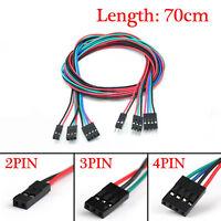 10pcs 2/3/4Pin Dupont Kabel Jumper Wire Linie Kit Pi Arduino Breadboard M-F 70CM