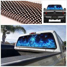 "Car Truck Pickup Rear Window Flaming Skull Tint Graphic Decal Sticker 22""x 65"""