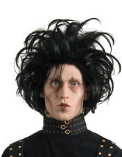 Edward Scissorhands Costume Accessory, Mens Edward Black Wig