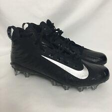New Nike Alpha Menace Pro Mid Football Cleats Black Silver Size 11.5 880410-010