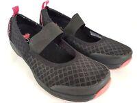 Sanita Love O2 Womens Size 40 9-9.5 Black Slip-On Mary Jane Strap Casual Shoes