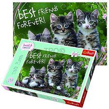 Trefl 260 Pieza Infantil Unisex Gatito Best Friends Lindo Mascota Gatos