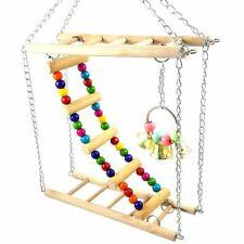 Bird Hamster Bridge Wood Swing Small Pet Ladder Stand Platform Cage Accessories
