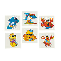 UNDER THE SEA PARTY Sea Creatures Tattoos Temporary Tattoo Pack of 36 Free Post
