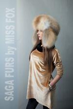 Golden island fox fur traper hat L/XL. SagaFurs