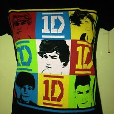 ONE DIRECTION OFFICIAL 1D BAND LADIES FITTED SMALL T SHIRT POP OUT OF PRINT