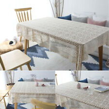 Rectangular lace tablecloth table runner Square woven Hollow Table Cover Dining
