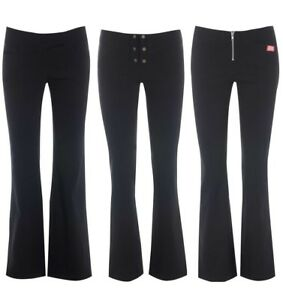 Miss Skinny Girls bootcut hipster stretch black sexy school trousers size 6-14