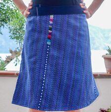 Guatemalan Handmade Colorful Wrap Skirts One Size Huipil Boho Style Aqua Jewel