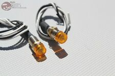 Amber Dash Led Indicator Lights Hot Rat Rod Custom Car Truck Boat Instrument New (Fits: Studebaker)