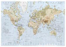 "IKEA PREMIAR Large 78"" x 55"" World Map w/ Frame 701.194.30 Atlas Picture Canvas"