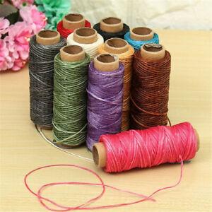 30m/roll Tool Flat DIY Handicraft Cord Waxed Thread Leather Sewing Line