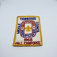 Tennesse Middle Council 1968 Fall Camporee Patch Boy Scouts America BSA Vintage