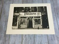 """John Baeder """"Lithographs"""" Signed Sepia LE of 200 Mezzotint Limited Edition"""