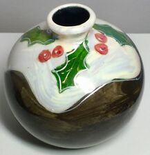 Fabulous Christmas Pudding 10cm Marrakech Vase By Anita Harris *Signed Exclusive