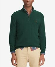 Polo Ralph Lauren Men's Cashmere Blend HalfZip Sweater-College Green-SIZE-XS-NWT