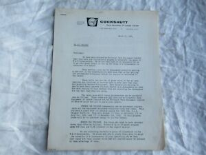 1964 Cockshutt letter to dealers recommending M&W Dynamometers brochure