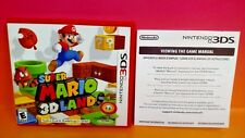 Super Mario 3D Land Nintendo 3DS Case, Cover Art, Insert ONLY - NO GAME !