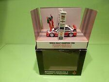 SKID MITSUBISHI LANCER EVO V - MAKINEN MANNISENMAKI - WRC 1998 CHAMPION - RED