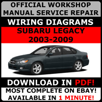 # OFFICIAL WORKSHOP Service Repair MANUAL SUBARU LEGACY 2003-2009