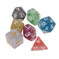 7x Multi Side Dice D4 D6 D8 D10 D12 D20 Digital Die for Party Game Supplies #1