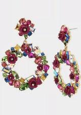 Betsey Johnson Betseyvilla Stone Wreath Earrings X5
