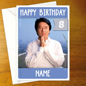 JACKIE CHAN Personalised Birthday Card - A5 martial arts rush hour lee shanghai