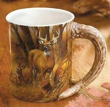 "WILD WINGS ""Deer"" – Sculpted Coffee Mug~ Rosemary Millette~NEW MINT IN BOX!"