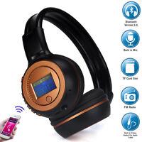 Plegable Inalámbrico Auriculares Bluetooth estéreo Diadema incorporada