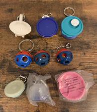 9 Vintage Tupperware Keychains & Magnet - Bowls, Shape-O, Plate, Pitcher Mini
