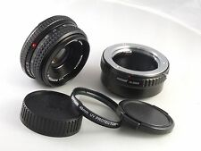 EOS-M bundle lens Minolta MD Rokkor-X 45mm F2.0 TESTED Canon EF-M mount adapter