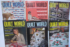 Quilt World Magazines 5 Issues 1976-1978