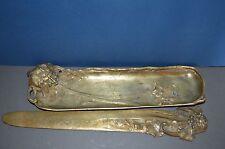 19th siècle art nouveau Bronze Stylo plat/ouvre-lettre, signé une Marionnet, c1890