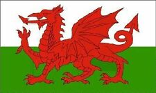Wales welsh dragon national flag with 2 grommets for easy hanging - red, 5ftx3ft