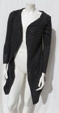 BELLDINI Dark Gray Cotton Viscose Lacy Knit Draped Cardigan Sweater size S EUC